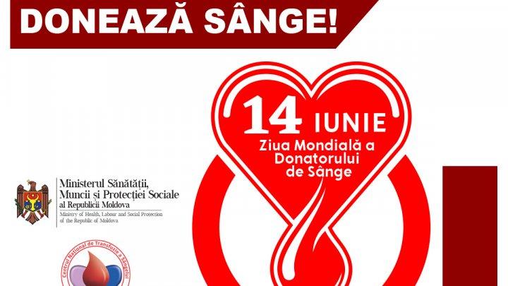Ziua Mondială a Donatorului de Sânge. Ajută și pe alții să fie printre noi! Donează sânge! Dăruiește viață
