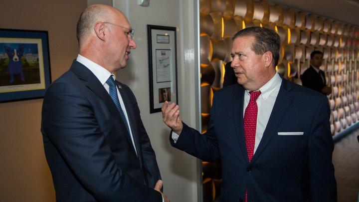 Pavel Filip, către reprezentanții Consiliului Atlantic: Avem nevoie de un leadership puternic al SUA pentru asigurarea securităţii în regiune