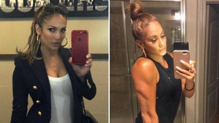 Seamănă leit cu Jennifer Lopez şi face senzație pe Internet. Vezi cum arată sosia ei (FOTO)