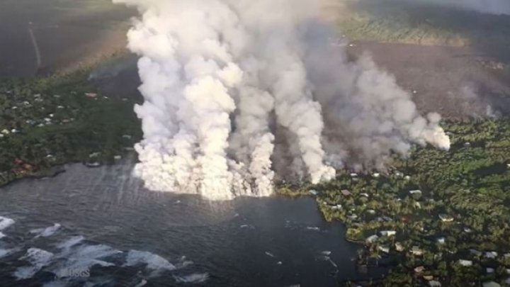 Cel mai mare lac cu apă dulce din Hawaii a dispărut în câteva ore. A fost umplut cu lava vulcanului Kilauea