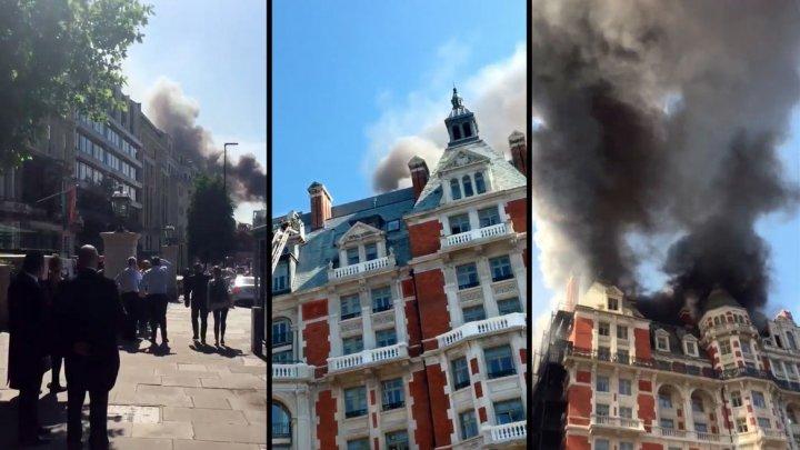 Robbie Williams, printre persoanele evacuate din hotelul de lux din Londra cuprins de flăcări (VIDEO)