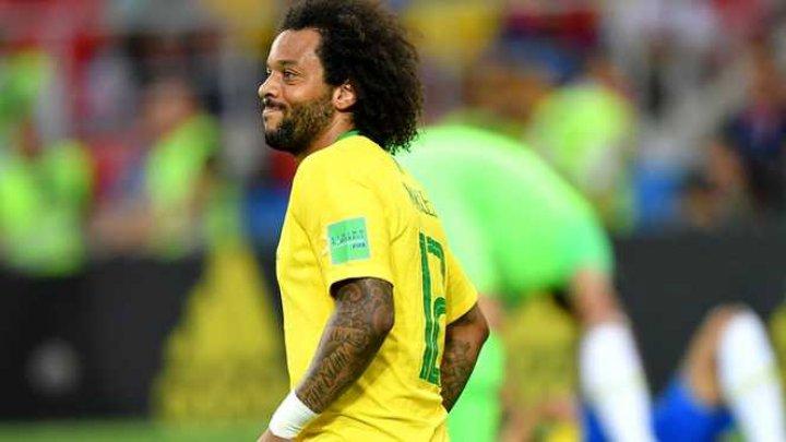 Cupa Mondială 2018: Marcelo, victima unui spasm muscular la spate în timpul meciului Brazilia - Serbia