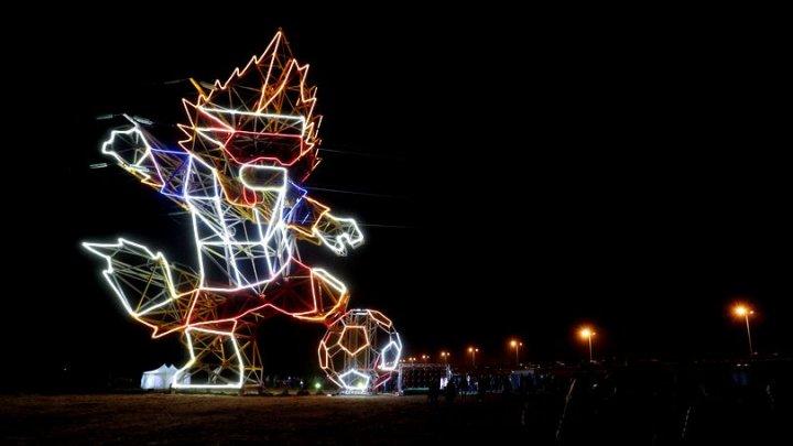 Un stâlp de electricitate a fost transformat în mascota Campionatului Mondial în Rusia (FOTO)