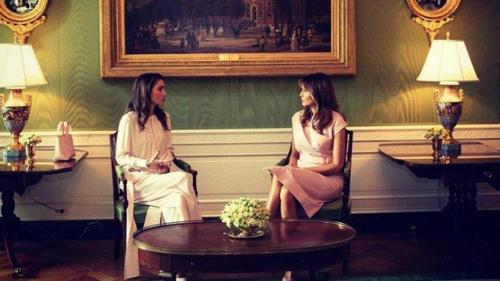 Regina Rania a Iordaniei și Melania Trump, LUPTĂ stilistică la Casa Albă