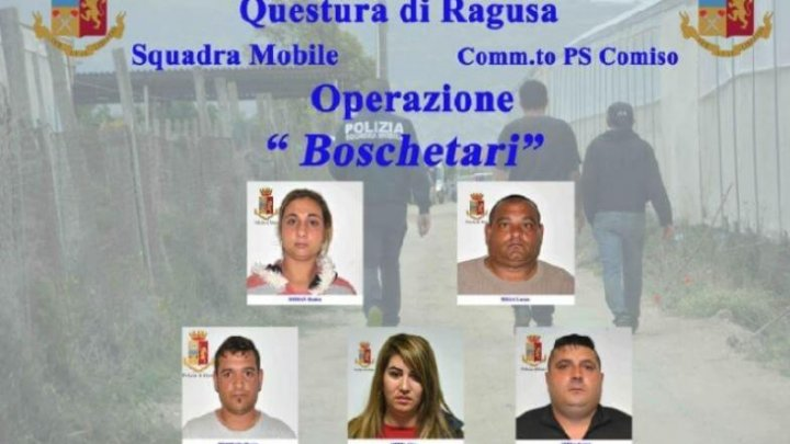 """OPERAŢIUNEA """"BOSCHETARII"""": Cinci români, ARESTAŢI în Italia pentru trafic de oameni și proxenetism cu minori (VIDEO)"""