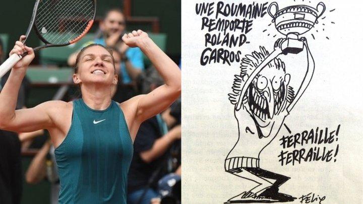 Reacţia ambasadei Franţei după apariţia caricaturii cu Simona Halep din Charlie Hebdo