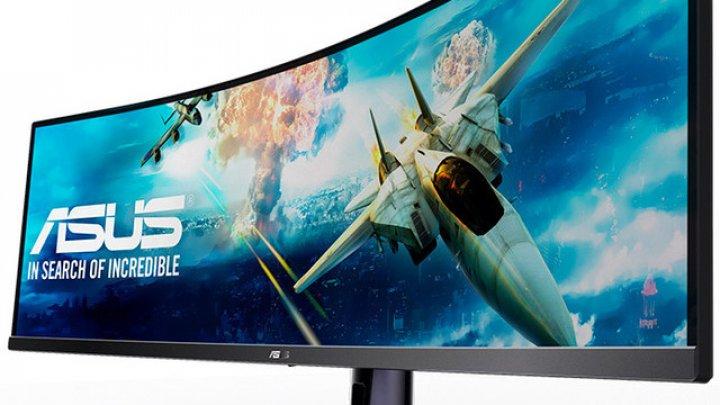 ASUS lansează VG49V, un monitor cât două. Ecranul va dispune de iluminare LED