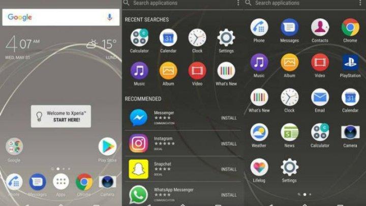 Sony va înlocui interfaţa Xperia Home de pe smartphone-urile sale