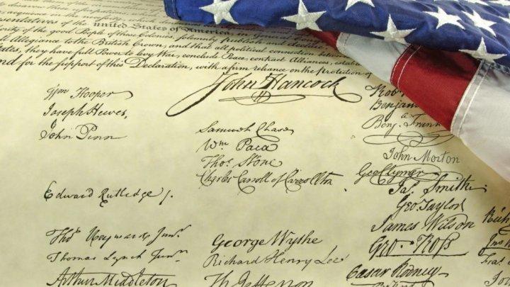 O copie a Declaraţiei de Independenţă a Statelor Unite, descoperită în Anglia