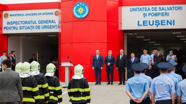 Un post modern de pompieri a fost deschis în satul Leuşeni, raionul Hânceşti