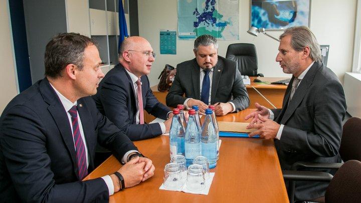 Premierul Pavel Filip a avut o întrevedere cu Comisarul european pentru Politica de Vecinătate, Johannes Hahn