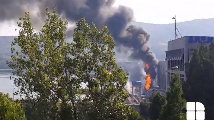 Incendiul de la transformatorul din cadrul Hidrocentralei Porţile de Fier 1 a fost stins
