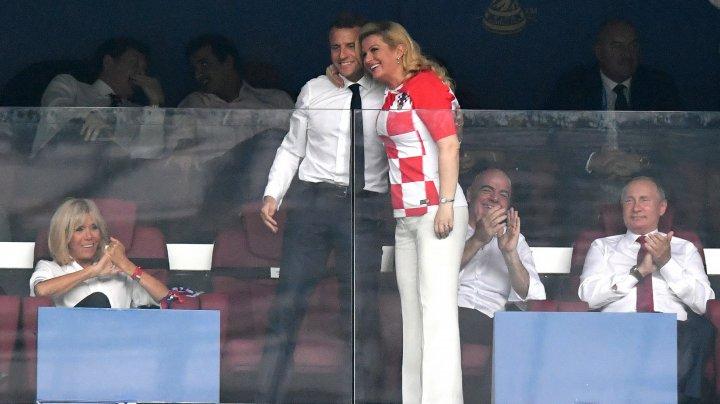 CROAŢIA ŞI FRANŢA, LA BRAŢ. Macron şi Kitarovic au premiat finalistele Cupei Mondiale 2018