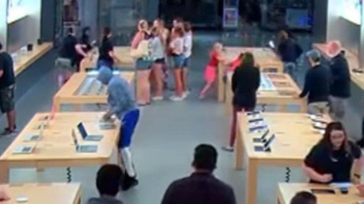 Jaf în 30 de secunde, la un magazin Apple. Cum a fost posibil (VIDEO)