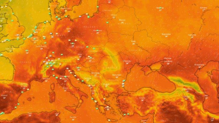 ALERTĂ ÎN EUROPA! Un val de caniculă extremă va lovi întreg continentul (HARTĂ INTERACTIVĂ)