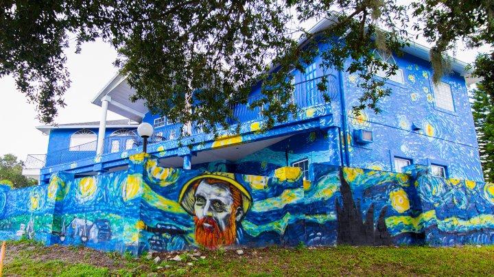 Motivul incredibil pentru care un cuplu a decis să își vopsească casă la fel ca o pictură celebră a lui Van Gogh
