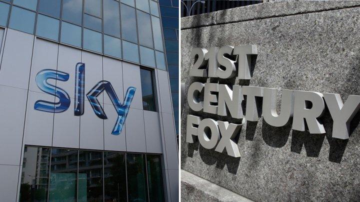 Compania 21st Century Fox va prelua grupul britanic Sky pentru 32,5 miliarde de dolari