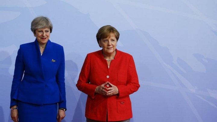 Angela Merkel a salutat propunerea premierului britanic Theresa May privind ieşirea Marii Britanii din UE