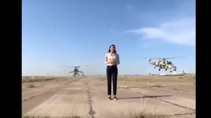 La un pas de tragedie! Ce s-a întâmplat cu o jurnalistă din Azerbaidjan în timp ce era în transmisiune directă (VIDEO)