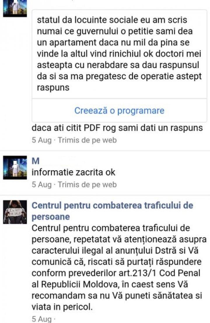 Bărbat din Leova, salvat de poliţie după ce a publicat un anunţ că îşi vinde un rinichi