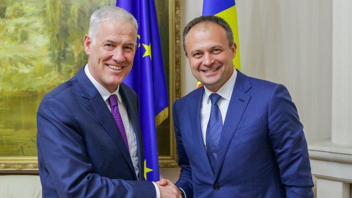 Progresul procesului de reglementare a conflictului transnistrean a fost discutat de Andrian Candu cu Ambasadorul Michael Scanlan