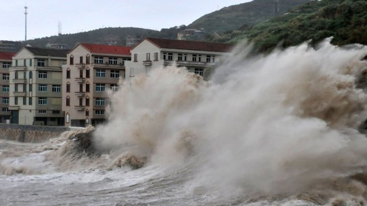 China: Trei morţi şi sute de mii de persoane evacuate din cauza Taifunului Yagi