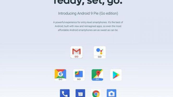 Google prezintă Android 9 Pie Go Edition, cea mai light versiune de Android pentru telefoane low-cost
