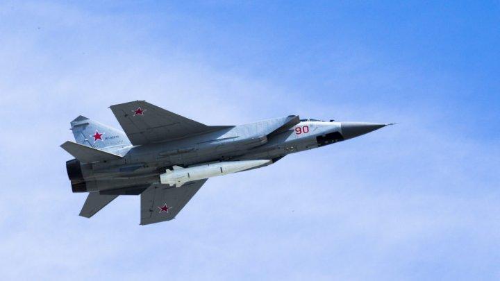 """Propaganda rusă: Noile avioane rusești de vânătoare MiG-31K ar putea distruge în """"2 minute"""" scutul antirachetă din România"""