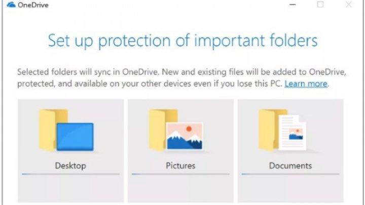 Microsoft adaugă opţiune pentru backup automat al fişierelor de pe desktop din alte locaţii, în contul OneDrive