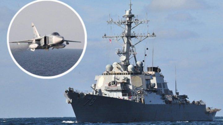 Şase bombardiere ruseşti, interceptate deasupra Mării Negre