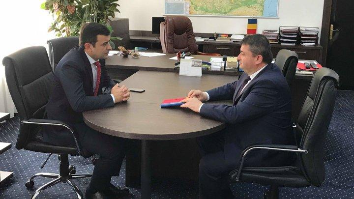 Ministrul Chiril Gaburici și omologul său Dănuț Andrușcă reconfirmă cooperarea economică bilaterală