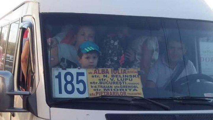 Poliţia a prins pe şoferul care a luat pasageri la grămadă în maxi-taxiul de pe linia 185 din Capitală. Ce amendă a primit