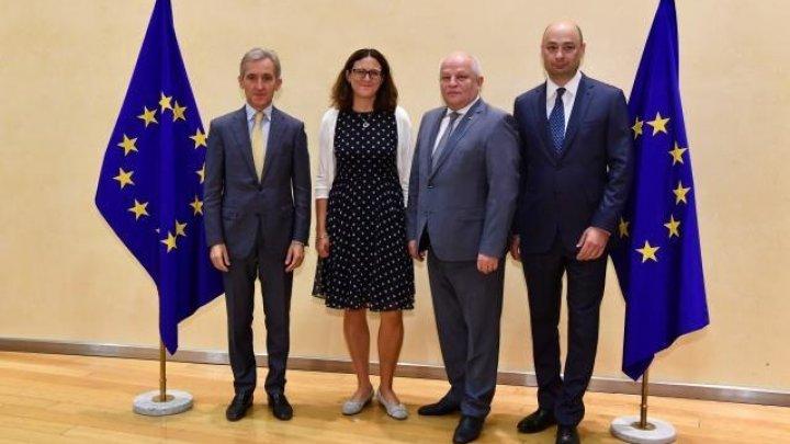 Iurie Leancă participă la Reuniunea Ministerială informală în domeniul comerţului, la Bruxelles. Subiectele abordate