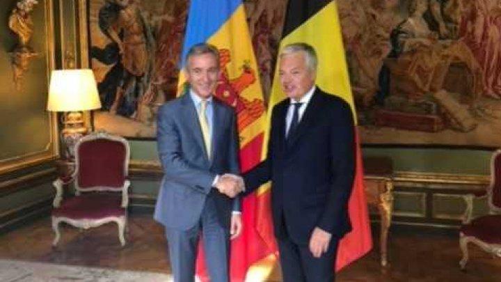 Viceprim-ministrul Iurie Leancă: Sprijinul Belgiei este important în procesul de integrare europeană a țării noastre