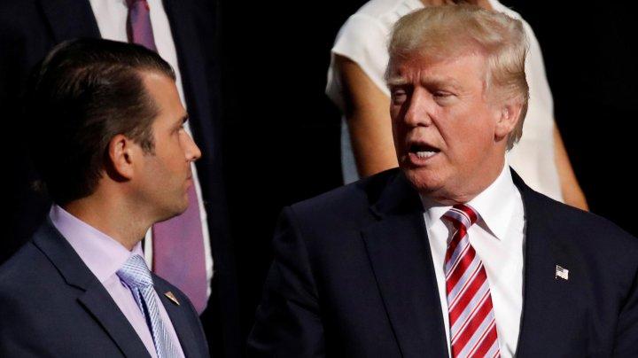Donald Trump recunoaşte că fiul său s-a întâlnit cu oficiali ruși pentru a obține informații despre Hillary Clinton