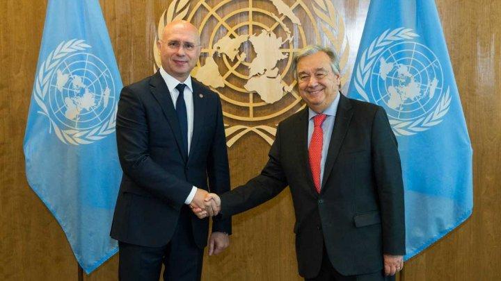 Pavel Filip către Secretarul General ONU: Apreciem că Organizația și-a concentrat atenția asupra retragerii trupelor ruse din Republica Moldova