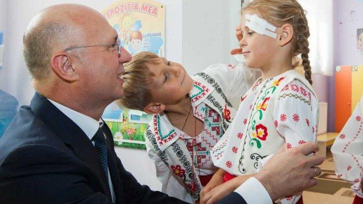 Pavel Filip, la deschiderea grădiniței din Sipoteni: Cei care nu au grija de educație, în zădar fac investiții  în alte domenii