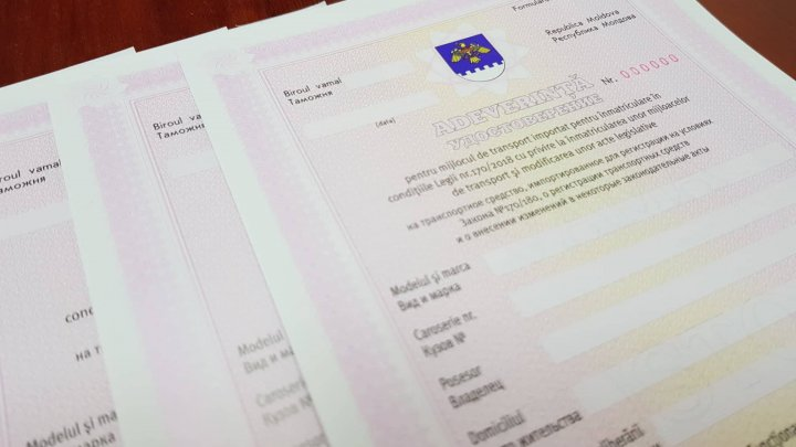 Numerele de înmatriculare neutre vor putea fi obţinute în baza unui nou formular tipizat
