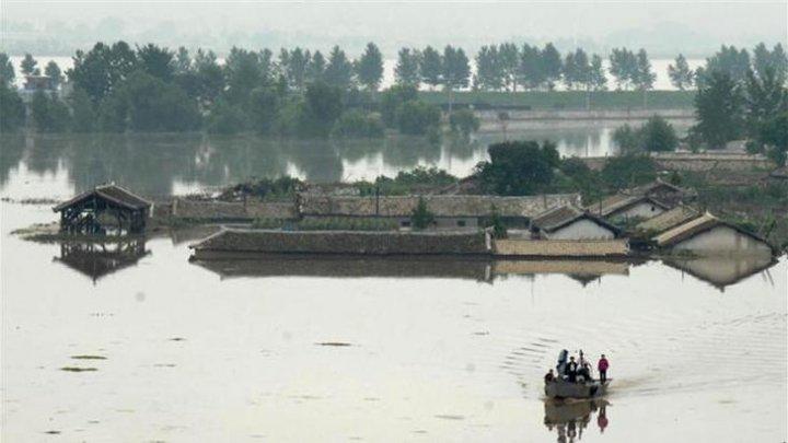 Inundaţii puternice în Coreea de Nord: Cel puţin 76 de morţi și 75 de persoane au dispărute