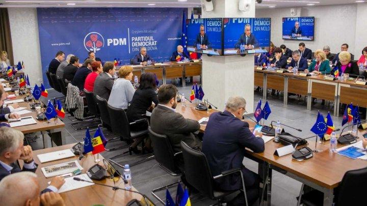 Planul de acţiuni şi programul politic al PDM, discutat în cadrul şedinţei. Ce a decis conducerea democrată