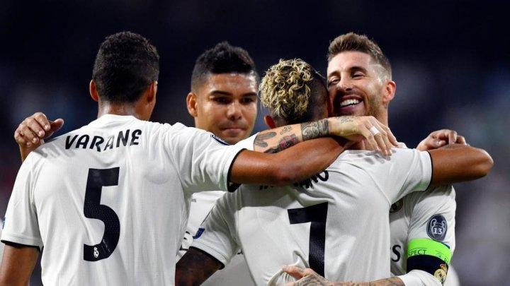 Real Madrid a pășit cu dreptul în noua ediție a Ligii Campionilor de fotbal. A învins cu 3-0 în meciul cu AS Roma