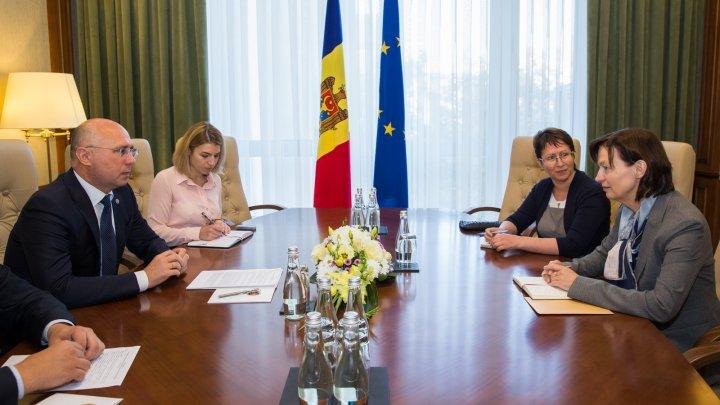 Premierul Pavel Filip s-a întâlnit cu noua ambasadoare a Germaniei la Chișinău, Angela Ganniger