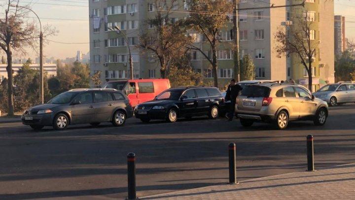 ACCIDENT ÎN LANŢ lângă Circ. Patru automobile au fost implicate (FOTO)