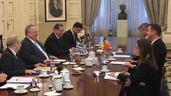 Cooperarea moldo-elenă a fost discutată, la Atena, de miniștrii afacerilor externe, Tudor Ulianovschi și Nikos Kotzias