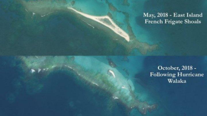 Insula ștearsă de pe suprafața pământului de uragan (IMAGINI SURPRINSE DIN SATELIT)