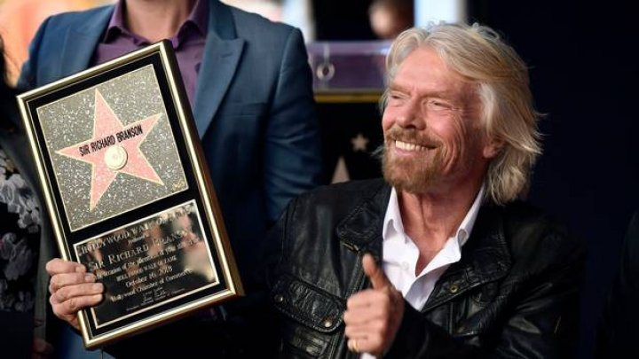 Miliardarul Richard Branson a primit o stea pe Walk of Fame din Hollywood