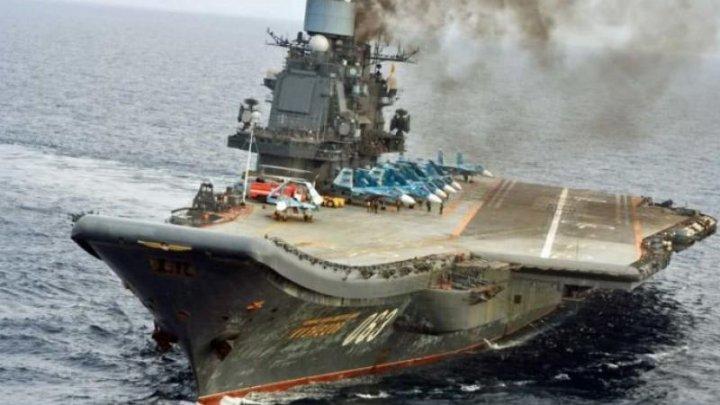 Singurul portavion al Marinei ruse a fost avariat în cursul lucrărilor de reparaţii