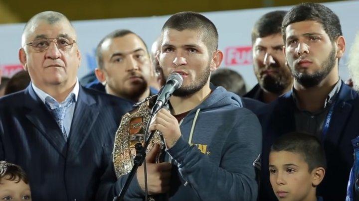 McGregor, suspendat de UFC, iar Khabib Nurmagomedov, întâlnit regește la Mahacikala