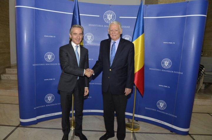 Viceprim-ministrul Iurie Leancă s-a întâlnit cu preşedintele Senatului de la Bucureşti, Călin Popescu-Tăriceanu