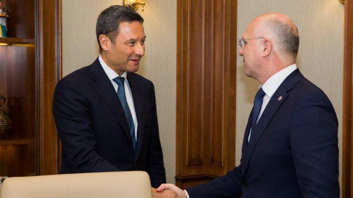 Premierul Pavel Filip s-a întâlnit cu noul șef al Oficiului CoE în Republica Moldova, William Massolin